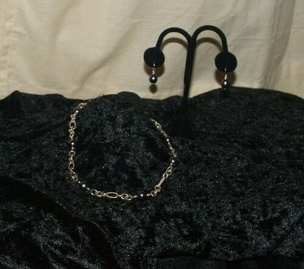 Black Pearl on Chain Set