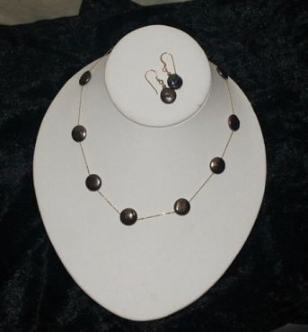 Black Coin Pearl Necklace