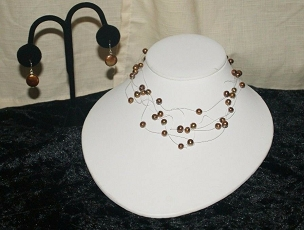 Brown Illusion Pearl Necklace