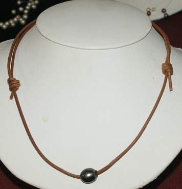 Grey Black Tahitian Pearl Necklace