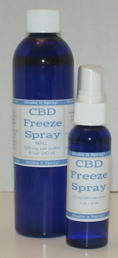 CBD Freeze Spray and Refill Combo Pack
