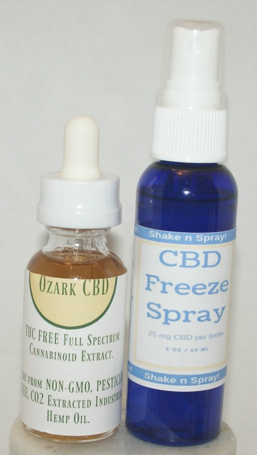 1000 mg CBD OIL and CBD Freeze Spray Combo Pack